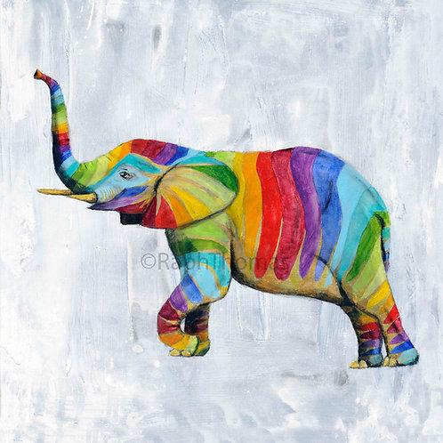 Rainbow Elephant Trunk Up 1
