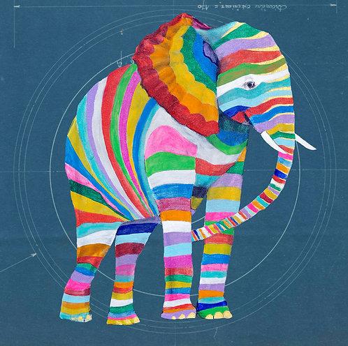 Striped Elephant 1 on Blueprint
