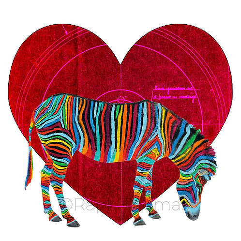 Valentines Square Zebra 1