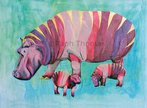 Pink Hippo Family