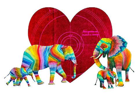 Valentines Landscape Elephants 2