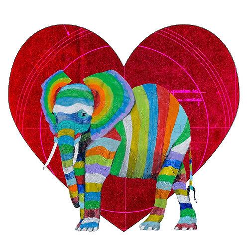 Valentines Square Elephant 1