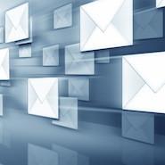 Flying white envelopes