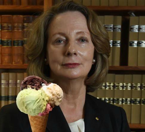 Kiefel CJ with an ice cream