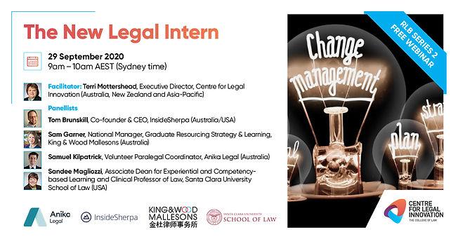 The New Legal Intern Free Webinar