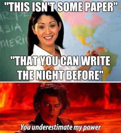 Writing paper meme