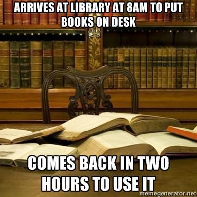 library book meme