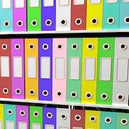 Colourful binders