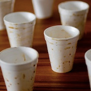 Empty coffee cups