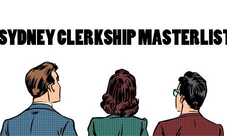 Sydney Clerkship Masterlist 2016/17