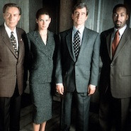 Law and order cast standing