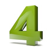 Green number 4