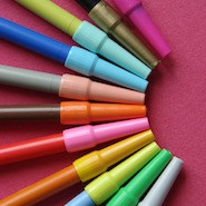 colourful markers