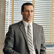 Don Draper actor in a suit