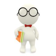 3D Nerd character