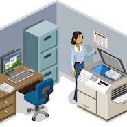 cartoon photocopy room
