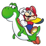 Super Mario and dinosaur