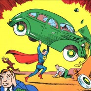 Superman lifting a car