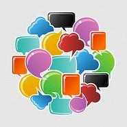 Colourful speech bubbles