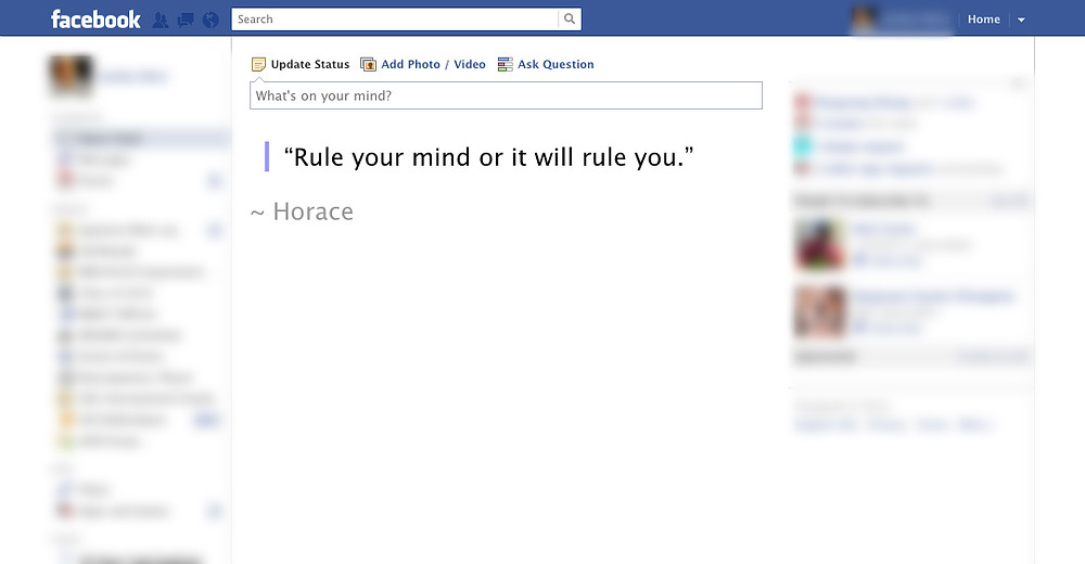 news feed eradictor in action