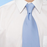 Blue tie and white dress shirt