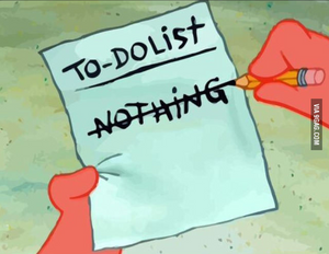 To-do list that says NOTHING