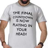 Final countdown t shirt