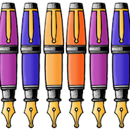Cartoon fountain pens