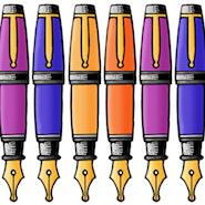 Cartoon fountain pens