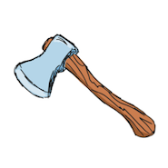 Cartoon axe
