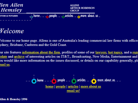 Law Firm Websites: '90s and '00s