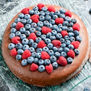 Cake with berries on top
