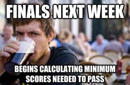 Finals in College meme