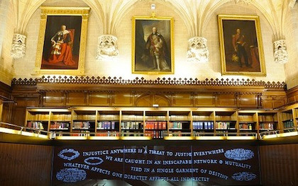 Library at Britain's Supreme Court