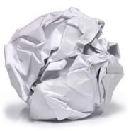 Paper ball of paper