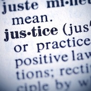 Justice listed in a dictionary