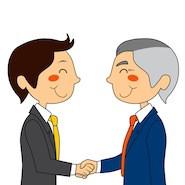 Cartoon business handshake