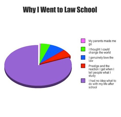 Why I went to law school pie graph