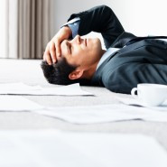 Exhausted businessman