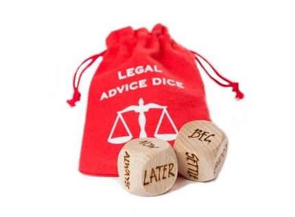 Legal Advice Dice and bag