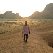 Jess in the desert