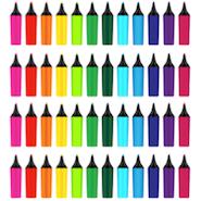 Rainbow of highlighters