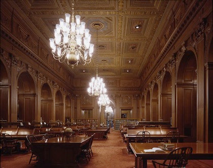 Main reading room of the US Supreme Court Library