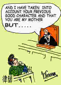 Cartoon judge