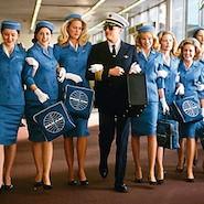 pilot and flight attendants
