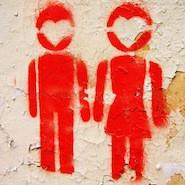Graffiti boy and girl