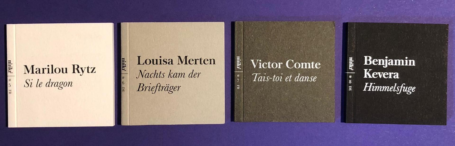 4 livres en version originale, édition 2020, 29 CHF (frais de port inclus)