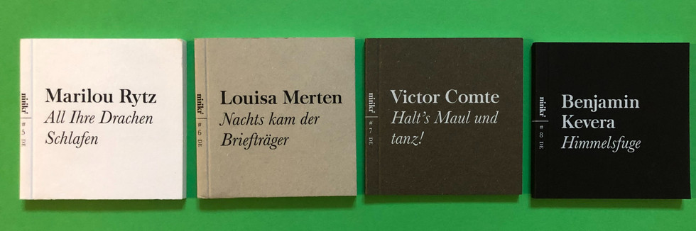 4 livres en allemand, édition 2020, 29 CHF (frais de port inclus)