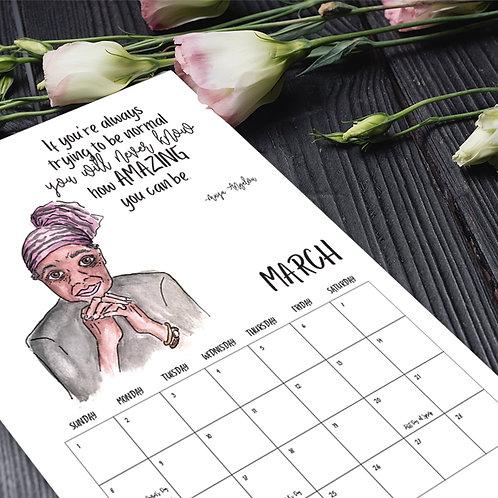 Inspirational Females 2021 Calendar