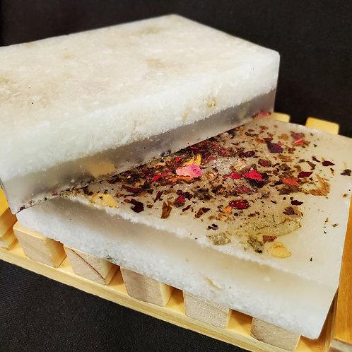 Pink Himalayan and Rose Bath Salt Bar